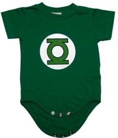 Green Lantern DC Comics Logo Dark Green Super Hero Baby Creeper Romper - GeekBabyClothes.com GeekBabyClothes.com