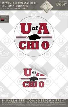 """University of Arkansas Chi O Game Day Sticker 2016 <a class=""""pintag searchlink"""" data-query=""""%23BUnlimited"""" data-type=""""hashtag"""" href=""""/search/?q=%23BUnlimited&rs=hashtag"""" rel=""""nofollow"""" title=""""#BUnlimited search Pinterest"""">#BUnlimited</a> <a class=""""pintag searchlink"""" data-query=""""%23BUonYOU"""" data-type=""""hashtag"""" href=""""/search/?q=%23BUonYOU&rs=hashtag"""" rel=""""nofollow"""" title=""""#BUonYOU search Pinterest"""">#BUonYOU</a> <a class=""""pintag searchlink"""" data-query=""""%23CustomGreekApparel"""" data-type=""""hashtag"""" href=""""/search/?q=%23CustomGreekApparel&rs=hashtag"""" rel=""""nofollow"""" title=""""#CustomGreekApparel search Pinterest"""">#CustomGreekApparel</a> <a class=""""pintag searchlink"""" data-query=""""%23GreekTShirts"""" data-type=""""hashtag"""" href=""""/search/?q=%23GreekTShirts&rs=hashtag"""" rel=""""nofollow"""" title=""""#GreekTShirts search Pinterest"""">#GreekTShirts</a> <a class=""""pintag"""" href=""""/explore/Fraternity/"""" title=""""#Fraternity explore Pinterest"""">#Fraternity</a> <a class=""""pintag"""" href=""""/explore/Sorority/"""" title=""""#Sorority explore Pinterest"""">#Sorority</a> <a class=""""pintag searchlink"""" data-query=""""%23GreekLife"""" data-type=""""hashtag"""" href=""""/search/?q=%23GreekLife&rs=hashtag"""" rel=""""nofollow"""" title=""""#GreekLife search Pinterest"""">#GreekLife</a> <a class=""""pintag searchlink"""" data-query=""""%23TShirts"""" data-type=""""hashtag"""" href=""""/search/?q=%23TShirts&rs=hashtag"""" rel=""""nofollow"""" title=""""#TShirts search Pinterest"""">#TShirts</a> <a class=""""pintag"""" href=""""/explore/Tanks/"""" title=""""#Tanks explore Pinterest"""">#Tanks</a> <a class=""""pintag searchlink"""" data-query=""""%23TShirtIdeas"""" data-type=""""hashtag"""" href=""""/search/?q=%23TShirtIdeas&rs=hashtag"""" rel=""""nofollow"""" title=""""#TShirtIdeas search Pinterest"""">#TShirtIdeas</a> <a class=""""pintag searchlink"""" data-query=""""%23ChiOmega"""" data-type=""""hashtag"""" href=""""/search/?q=%23ChiOmega&rs=hashtag"""" rel=""""nofollow"""" title=""""#ChiOmega search Pinterest"""">#ChiOmega</a> <a class=""""pintag searchlink"""" data-query=""""%23ChiO"""" data-type=""""hashtag"""" href=""""/search/?q=%23ChiO&rs=hashtag"""" rel=""""nofollow"""" title=""""#ChiO search Pinterest"""">#ChiO</a> <a """