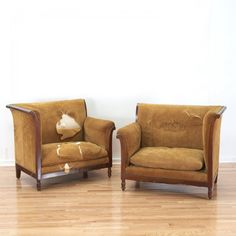 "Pair Empire style mahogany ""pommier"" sofas Retro Sofa, Vintage Sofa, Art Nouveau, Art Deco, Empire Style, Sofas, Love Seat, Couch, Styles"