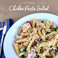The best make-ahead Summer Chicken Pasta Salad your whole family will love. Perfect on-the-go meal or for large gatherings.