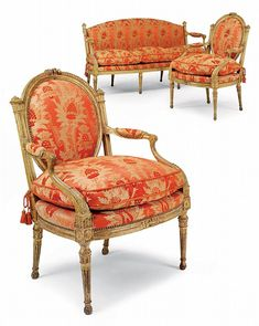 A SUITE OF GEORGE III GILTWOOD SEAT FURNITURE