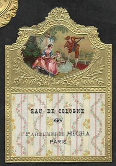 French vintage perfume label