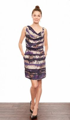 Dara Asymmetrical Strap Dress - Ikat Petunia $179
