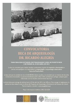ICP Anuncia Convocatoria para la Beca de Arqueología Dr. Ricardo E. Alegría Gallardo