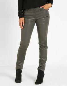 Pantalon slim uni anthracite Femme - Jacqueline Riu