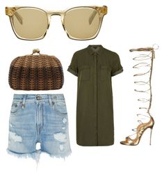 """Untitled #135"" by koncieted ❤ liked on Polyvore featuring Oliver Peoples, Dsquared2, R13, Topshop and Serpui"