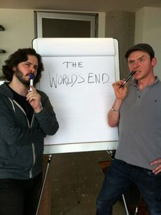 Simon Pegg And Edgar Wright Are Plotting 'The Worlds End' I CAN'T WAIT!