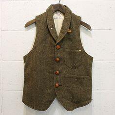 tweed pocket vest
