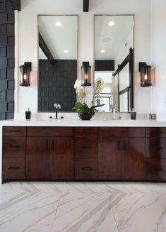 MSI Stone Bathroom Flooring porcelain pietra calacatta Room Scene