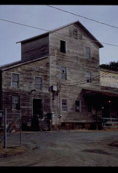Bethania Mill prior to conversion. Carolina Blue, North Carolina, Open Field, Winston Salem, Old Building, Blue Skies, Barns, American History, Sweet Home