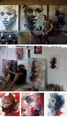 South Africa based oil painter Ryan Hewett
