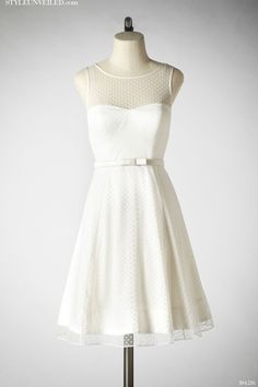 Style Unveiled - Style Unveiled | A Wedding Blog - Short White Wedding Dresses byBHLDN