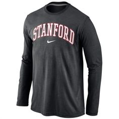 Stanford Cardinal Black Nike Long Sleeve T-Shirt