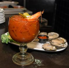 Deanie's Seafood Bloody Mary is one of the best in New Orleans!