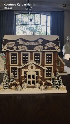 Kourtney Kardashian Shows Off Personalized Family Gingerbread House -- Without Scott Disick!
