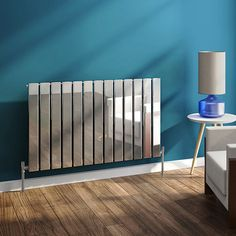 Urban Horizontal Radiator - Chrome - Single Panel (H600xW984mm) Home Heating Systems, Horizontal Radiators, Radiator Valves, Designer Radiator, Heated Towel Rail, Staircase Ideas, Conservatory, Polished Chrome, Plumbing