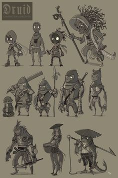 Druid Character Concepts by ElBrazo.deviantart.com on @deviantART