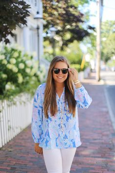 Lilly Pulitzer Elsa Top in Nantucket : Dash of Serendipity