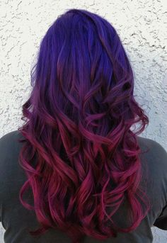Purple to magenta color melt ombre fashion color by Cheyenne Daniels in Redding, CA at Modern Muse Salon