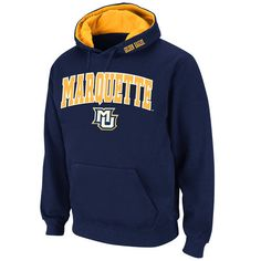 Stadium Athletic Marquette Golden Eagles Navy Arch & Logo Pullover Hoodie