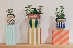 Love polkaros use of colors and patterns!