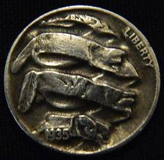 Hobo Nickel Unraveled by Lou Acker Hobo Nickel, Coins, Carving, Cactus, Ebay, Art, Rooms, Wood Carvings, Sculptures