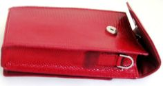 iPurse® Genuine Red Lizard Leather Phone case/Wallet/Evening purse: Cell Phones & Accessories