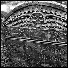 Old burying ground in Cambridge, Massachusetts.