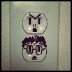 brb getting a sharpie and doing this to the outlets in my room