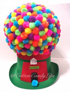 Crazy Hat Day Gumball Machine Hat @CottonCandyLips