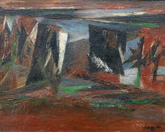 Mountain Tremor | by Reuben Tam (1916-1991) #ReubenTam #Oil #CedarStreetGalleries