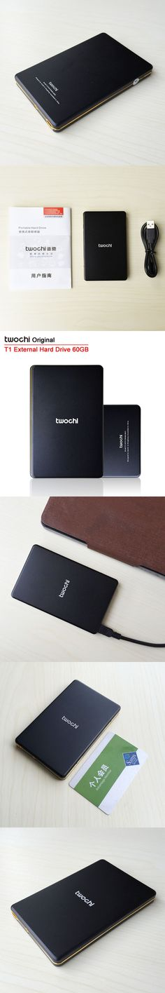 Free shipping TWOCHI T1 Original 2.5'' External Hard Drive 60GB  Portable HDD Storage Disk Plug and Play