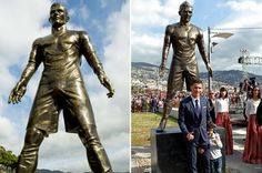 Dmegy's Blog: breaking: Cristiano Ronaldo statue vandalized afte...