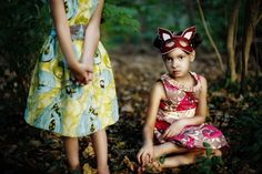 Enchanted Forest Dress- Girls Vintage Party Dress