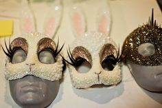 now THIS is how you do masquerade : parisian artist re-interprets the bunny mask in crystals, beads, and fake lashes a mile long. Mardi Gras, Bunny Love, Bunny Mask, Hippy Chic, Maquillage Halloween, Halloween Disfraces, Masquerade Ball, Rave Outfits, Hallows Eve