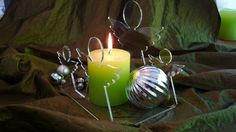 Kerzen Winter Deko Engel  von PAULSBECK Buchstaben, Dekoration & Geschenke auf DaWanda.com
