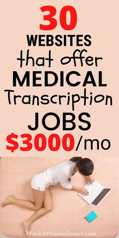 Looking for the best online medical transcription jobs from home? Here's a list of companies with medical transcriptionist jobs for beginners and pros. Transcription Jobs From Home, Medical Transcriptionist, Companies Hiring, Work From Home Companies, Money, Silver, Work From Home Business