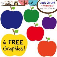 FREE Apples Set: Clip Art Graphics for Teachers {Primaries} Apple Clip Art, Free Graphics, Teaching Materials, Best Teacher, Teacher Resources, Org 2016, Apples, Pre Kindergarten, Bulletin Boards