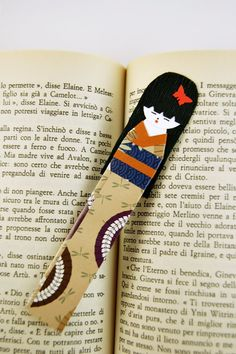 Bookmark  Kokeshi D  Origami Paper by SuniMam on Etsy, €2.50