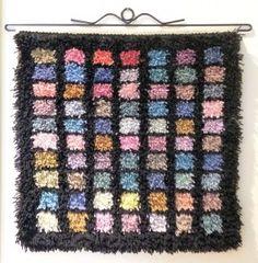 Rya Rug Kit Ikkuna 2015 by PaivatarYarn on Etsy Rya Rug, Wool Rug, Soft Flooring, Fiber Art, Free Pattern, Diy And Crafts, Crafty, Kit, Blanket