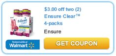 $3.00 Off Two (2) Ensure Clear 4-packs