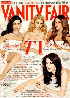 Julianna Margulies, Claire Danes, Sofía Vergara, Michelle Dockery - Vanity Fair Magazine Cover [United States] (May 2012)
