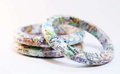 The Recycled California Map Bracelets by Squishy Sushi are Eco-Conscious #ecofriendly #fashion trendhunter.com