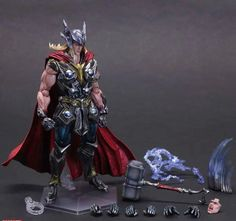 Thor Figure Super Hero Hammer PA 27cm PVC Action Figure Doll Toys Kids Gift Brinquedos