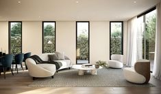 A clean & contemporary living room design by C.Kairouz Architects. Offering luxurious, light filled, comfortable spaces - the perfect modern apartment. Click link to see more >>#interiordesign #decor #apartmentlivingroom #style  #beautifulplaces #architecture #residential #furniture