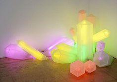 "Sylvie Fleury, ""Cristeaux"", 2001, plexiglass and neon."
