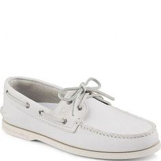 STS11986 Sperry Men's Authentic Original 2-Eye Boat Shoe - White