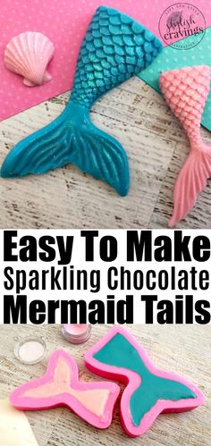 These easy to make sparkling chocolate mermaid tails are perfect for cupcakes , can be used as a sweet garnish and even party favor! Scroll down to see how to make a chocolate mermaid tail!