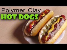 Quick/Easy Polymer Clay Hot Dog Tutorial - YouTube
