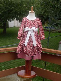 Snowflake Christmas 2013  Peasant Dress Size by designsbylindakay, $64.99